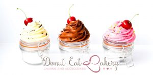 Cupcake Storage Jars Donut Eat Bakery