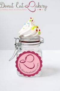 Rainbow Cupcake Sprinkle Jar