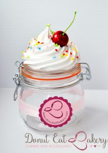 Vanilla Sprinkle Cupcake Storage Jar 500mls