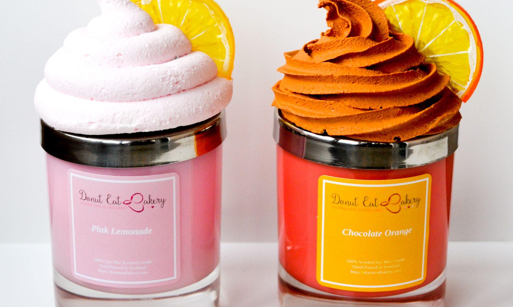 Pink Lemonade Cupcake Candle