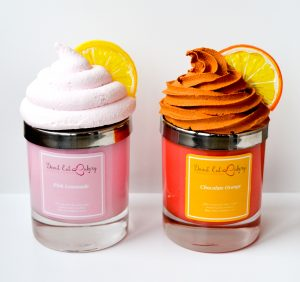 Pink Lemonade Cupcake Candle